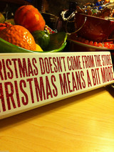 Sparkly Box Sign Wall or Desk Mantel Display Grinch saying Christmas is More image 4