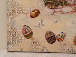 Spring Easter Bunnies Flowers Vintage Russian Artist Handmade Canvas L Mironova image 7