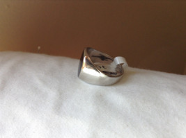 Square Black Stone Stainless Steel Ring Size 9 and 10  Sold Separately image 2