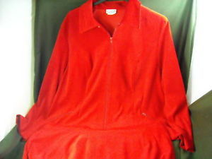 Womens CLIO 2 Size 3X Red 2 Piece Zipper Jacket & Suit