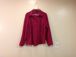 Womens Basic Editions Soft Fuchsia Lightweight Summer Shirt Jacket Top, Size 1X