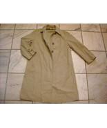 Women's London Fog Raincoat size 8 Petite Khaki Shell - $89.09