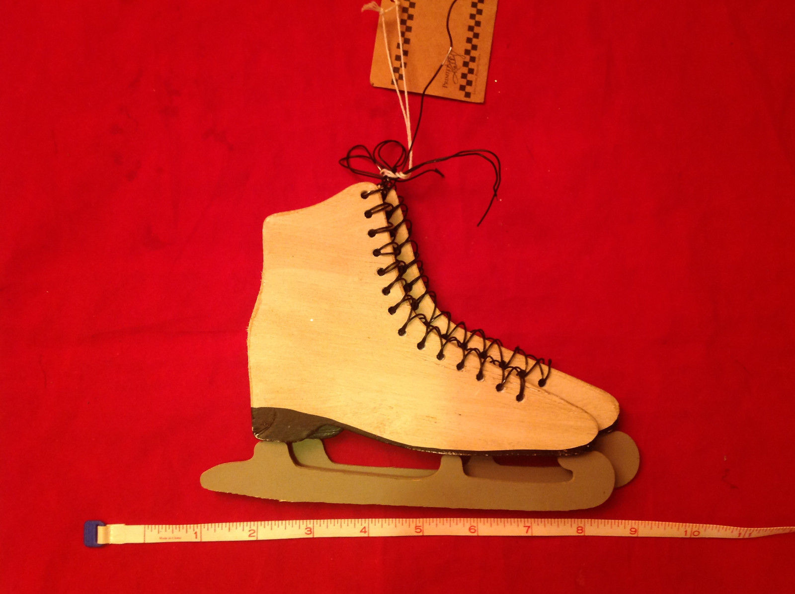 Wooden Ice Skates Christmas Ornament by Primitives by Kathy