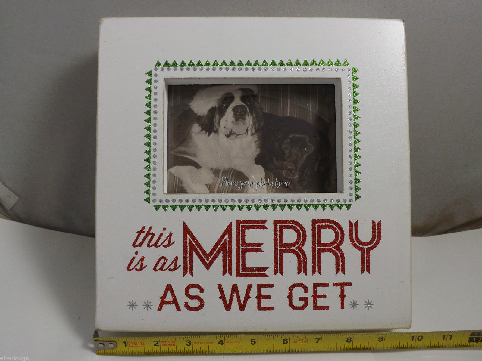 "Wooden Box Frame ""This is as Merry as We Get"" Christmas Holiday Decor"