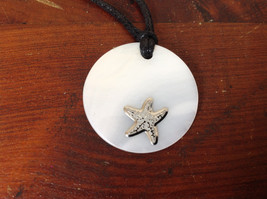 Starfish Adjustable Black String Color Changing Necklace Geo Jewelry image 4