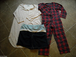 Womens small night gown PJs and swim shorts Claiborne ESleep Breakwater