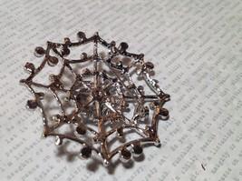 Beautiful Crystal Spider Silver Tone Pin Brooch Hinge Closure image 5