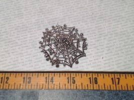 Beautiful Crystal Spider Silver Tone Pin Brooch Hinge Closure image 6