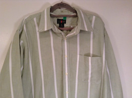 Striped Green Long Sleeve Button Up J Crew Shirt Excellent Condition Size Large image 2