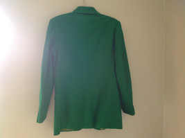 Stunning Bloomingdales Green Single Button Wool Blazer Front Pockets Size 10 image 7