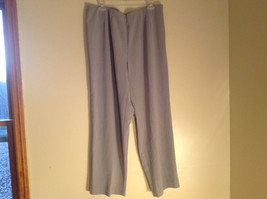 Worthington Gray Elastic Waist Dress Pants Zipper Button Closure Size 18W