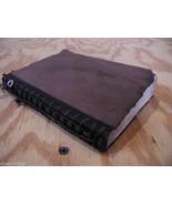 Worn Brown Handmade stitched Book Journal Sketchbook - $123.74