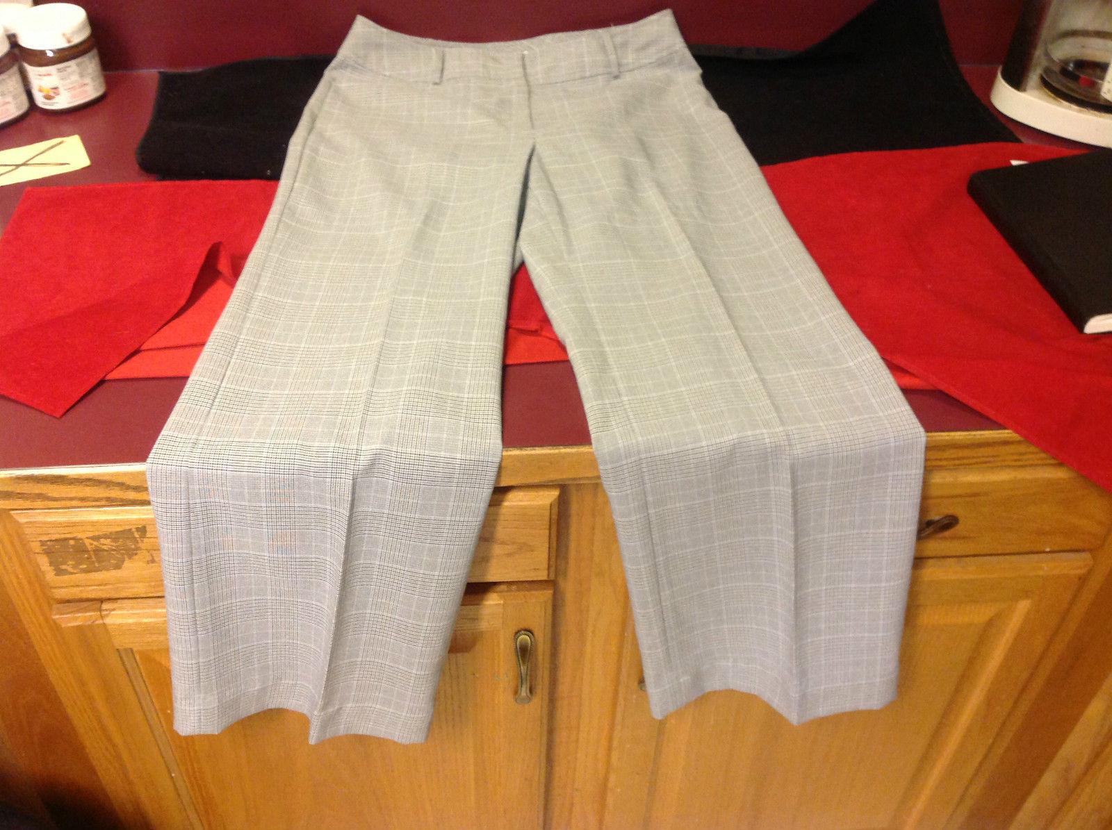 Worthington Ladies Stretch Dress Pants Heather Gray Black SIze 12 Average