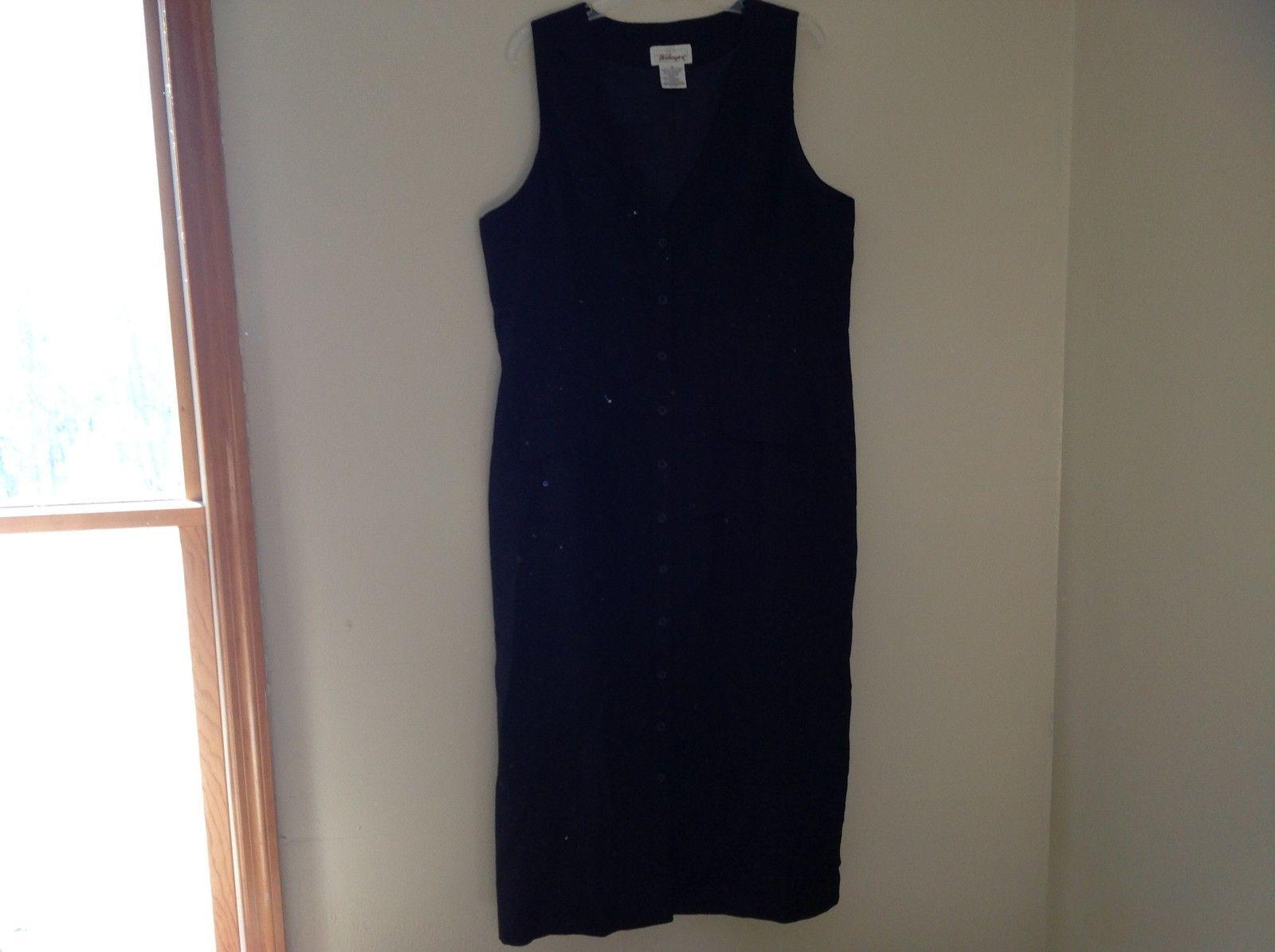 Worthington Womens Black Full Length sleeveless dress size 18