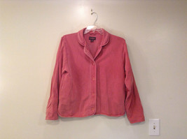 Woolrich Size L Washed Out Red with Hue of Pink Button Up Long Sleeve Shirt
