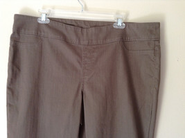 Style and Company Brown Casual Pants Stretchy Waist Back Pockets Size XL image 3