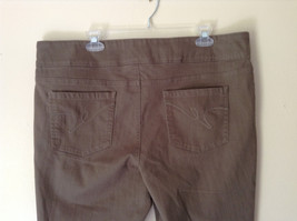 Style and Company Brown Casual Pants Stretchy Waist Back Pockets Size XL image 5