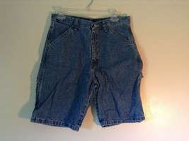 Wrangler Blue Jean Shorts Size 30 Waist Button and Zipper Closure Pockets image 1