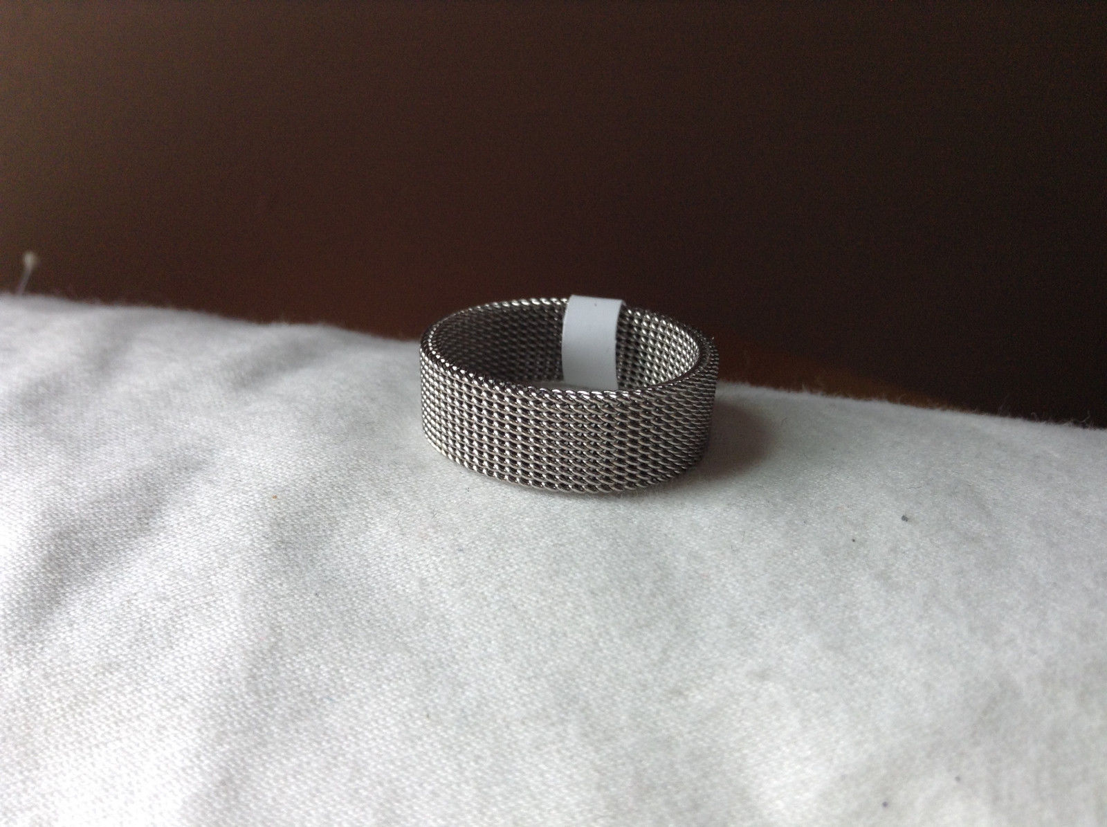 Woven Wide Band Stainless Steel Ring Size 6.25, 7.5, 9, 10, 11.5 Sold Separately