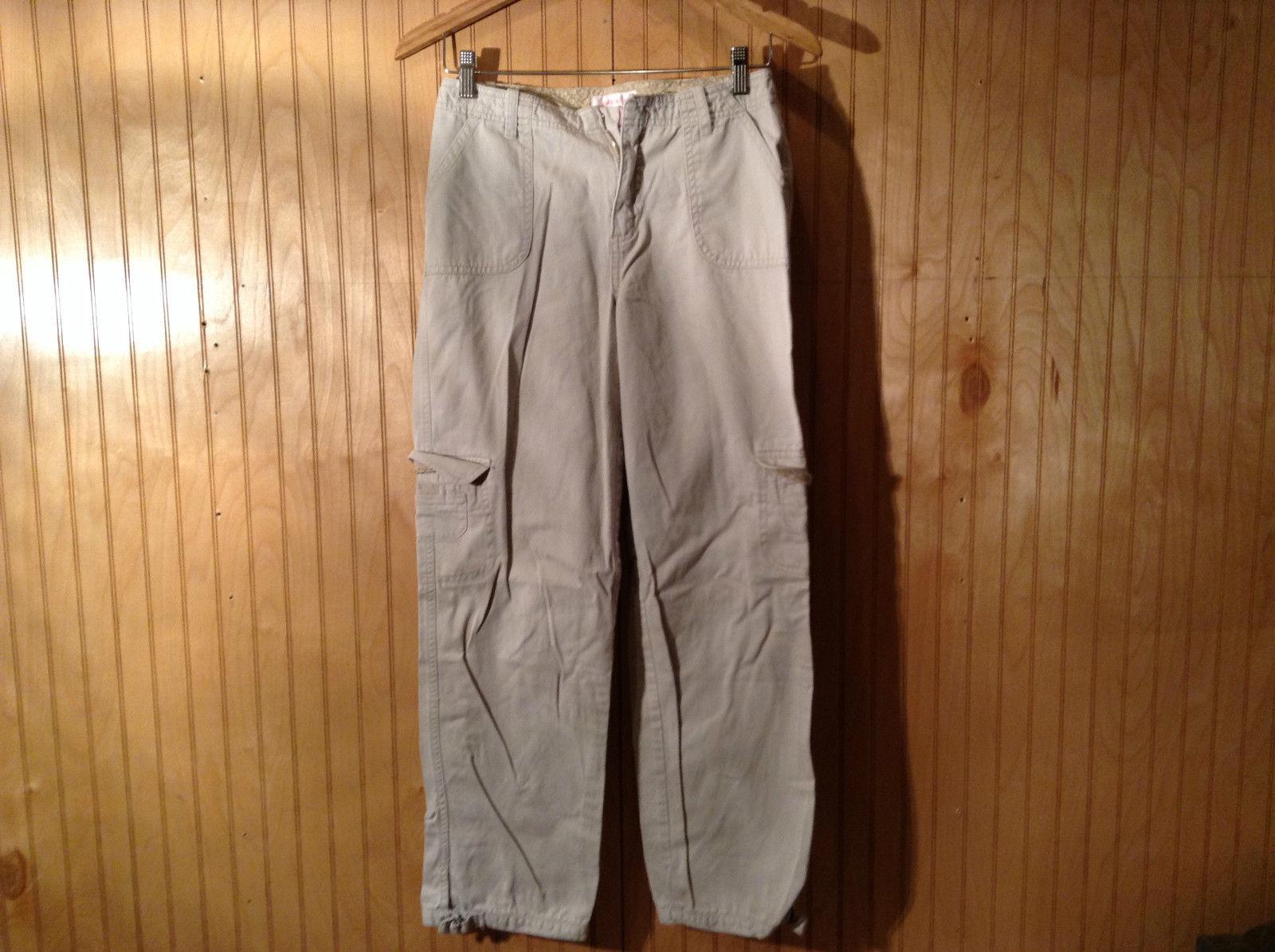 Xhilaration Size XL Khaki Beige Cargo Casual Pants 100 Percent Cotton