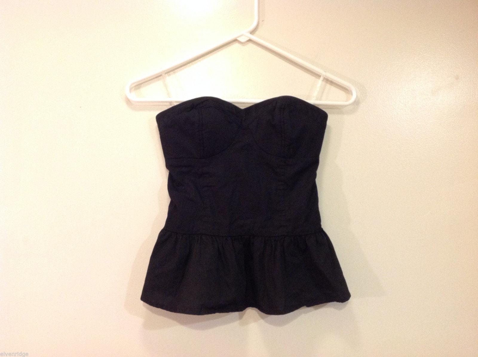 Xhilaration Black 100% cotton Strapless Bustier Bra, Size Small