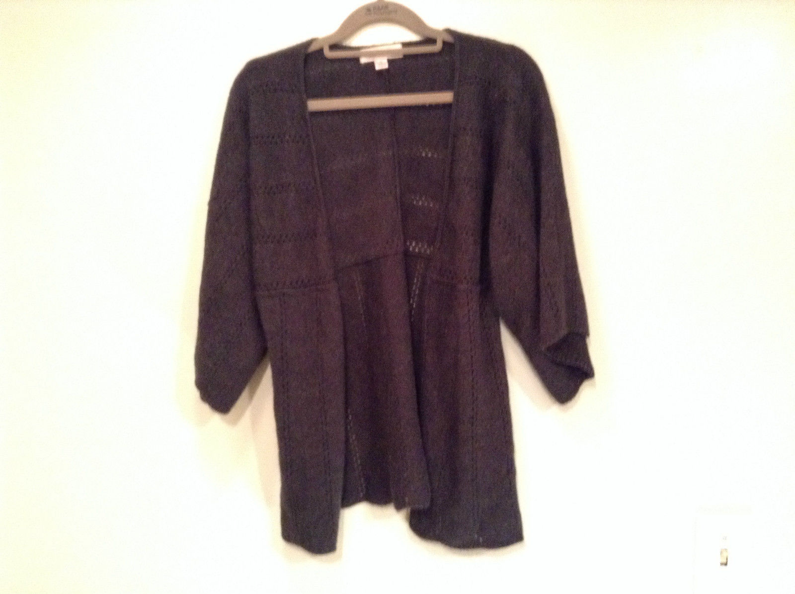 Xhilaration Size Medium Charcoal 100 Percent Acrylic Cardigan Sweater