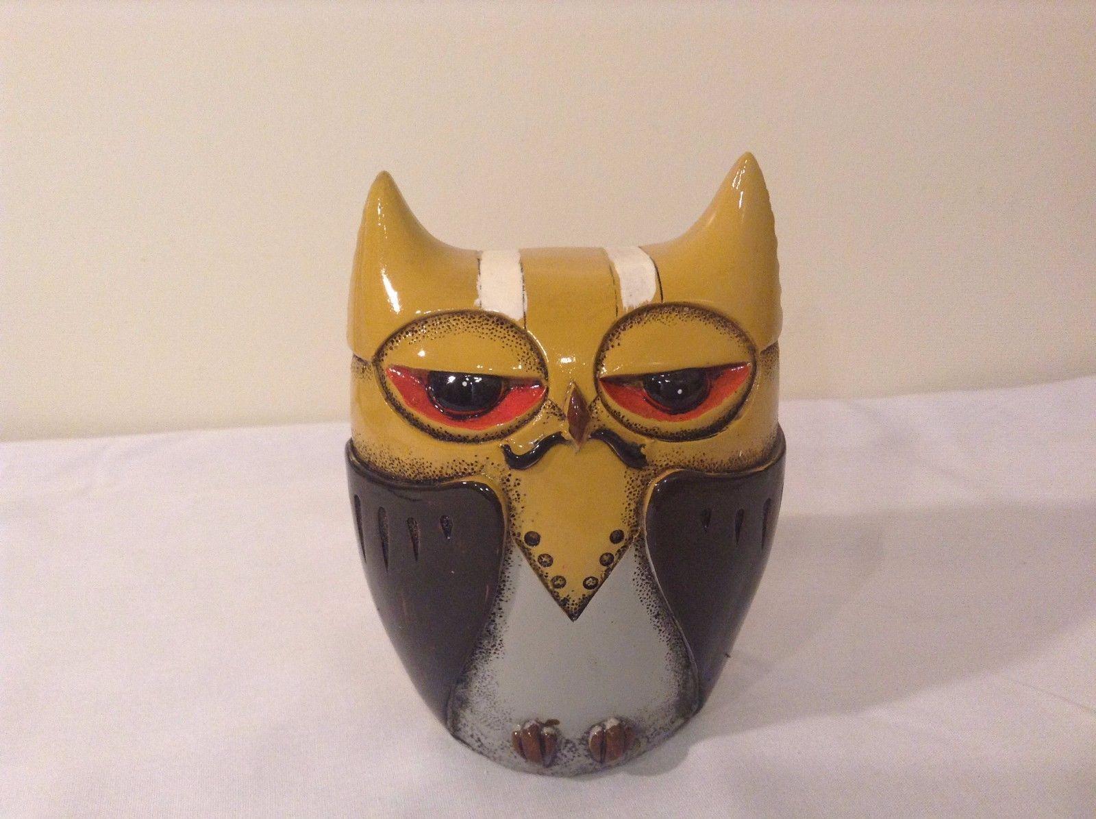Yellow Black Piggy Bank Owl New Original Packaging