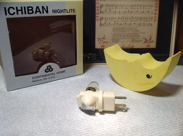 Yellow Crescent Moon USA Outlet Ichiban Night Light Original Box New