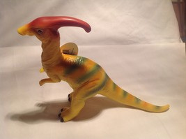 Yellow Dinosaur with Green Stripes Geocentral Parasaurolophus NEW
