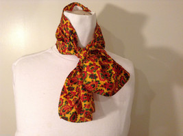Yellow Red Green Paisley Patterned Scarf
