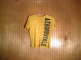 Yellow Aeropostale Short Sleeve T Shirt Size XS 100 Percent Cotton