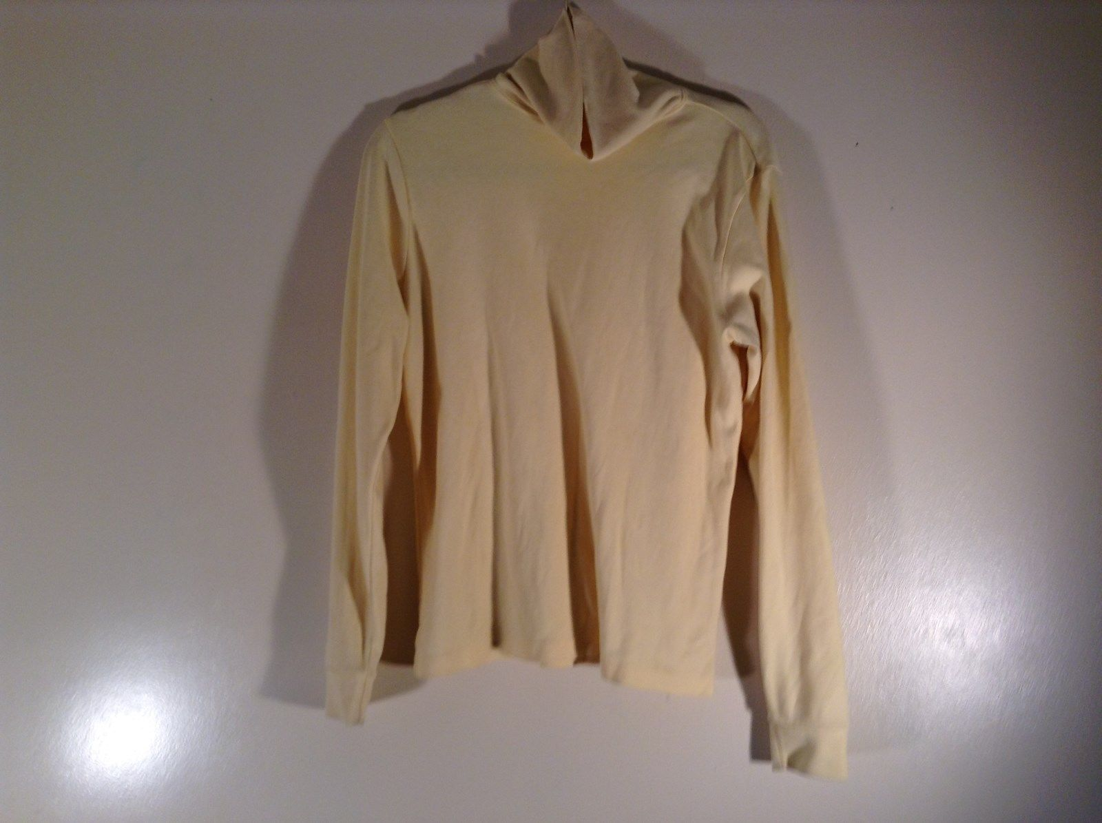 Yellow L L Bean Long Sleeve Turtleneck Top Fit Regular Size 5