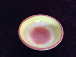 Yellow Red and Purple Handmade Decorative ceramic small serving Bowl 2011