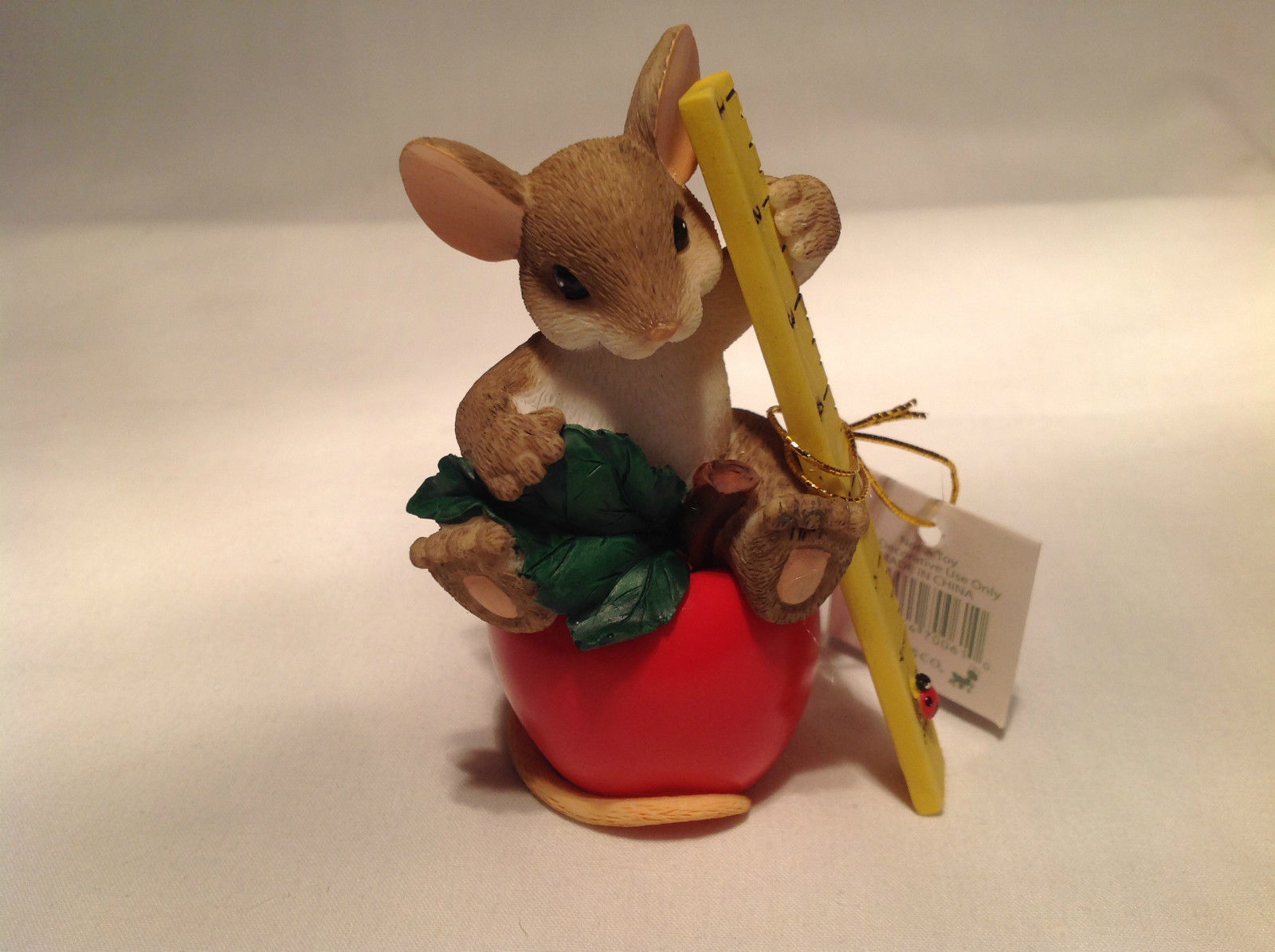You Really Help Me Learn My Lesson Charming Tails Figurine Mouse on Apple
