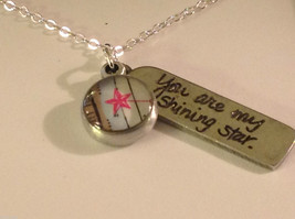 You are my shining star  charm pendant necklace in pewter