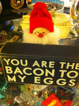You are the Bacon to my Eggs whimsical black box sign