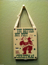 """You Better Not Pout"" Christmas Countdown Hanging Wall Decor"