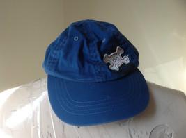 Young Boys Blue Baseball Hat Skull and Crossbones Design Velcro Adjustable