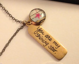 You are my shining star  charm pendant necklace in bronze hand made in USA