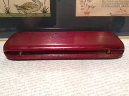 Beautiful Wooden Red Rosewood Pen with Stained Wood Red Case Golden Accents image 3
