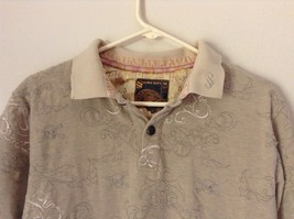 Subscript Polo Short Sleeve Size M Tan Light Brown Shirt Stitched on Design image 2