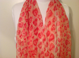 Summer Sheer Fabric Feathers print Scarf, colors of your choice image 9