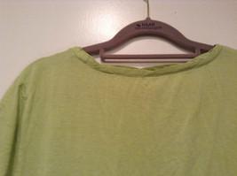 Talbots Short Sleeve Plain Light Green Citrus Green T Shirt Size Medium image 5