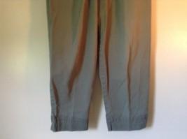 Talbots Green Casual Pants Zipper Button Closure 2 Front Pockets 1 Back Pocket image 3