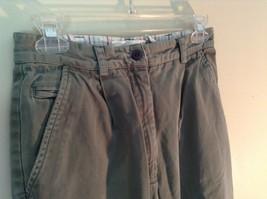 Talbots Green Casual Pants Zipper Button Closure 2 Front Pockets 1 Back Pocket image 4