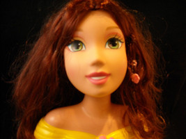 Beauty And The Beast Princess Bust For Hair And Makeup Play Accessories Included image 3