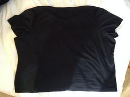 Susan Graver Black V-Neck Short  Sleeve Shirt  Size 3X image 5