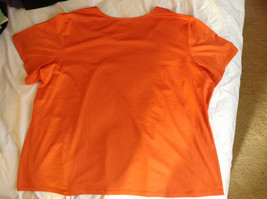 Susan Graver Orange Scoop Neck Short Sleeve Shirt Light Soft Material Size 3X image 4
