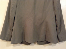 Talbots Gray Light Lined Blazer Size 6 Stand Collar Front Hidden Button Closure image 4