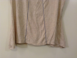 Beige Linea Donatella Size Large Sleeveless Top Uneven Bottom Lace on Back image 5